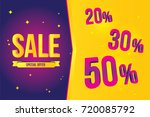 sale banner template design... | Shutterstock .eps vector #720085792