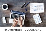 business person working with... | Shutterstock . vector #720087142
