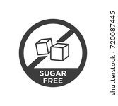 sugar free icon. vector... | Shutterstock .eps vector #720087445