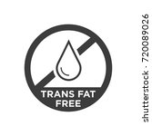 trans fat free icon. vector... | Shutterstock .eps vector #720089026