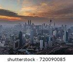 beautiful aerial view of kuala... | Shutterstock . vector #720090085