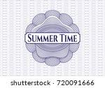 blue rosette  money style... | Shutterstock .eps vector #720091666