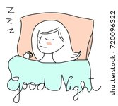 have a good night concept with... | Shutterstock .eps vector #720096322