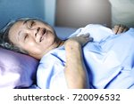 old woman sleep or lying with... | Shutterstock . vector #720096532