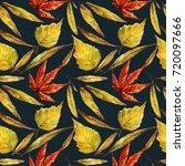 watercolor illustration. autumn ... | Shutterstock . vector #720097666