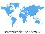 world map vector | Shutterstock .eps vector #720099532