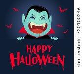 happy halloween. dracula... | Shutterstock .eps vector #720100246