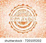 happy holidays abstract orange...   Shutterstock .eps vector #720105202