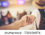 the girl takes a lover at the... | Shutterstock . vector #720106876