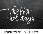 happy holidays lettering ... | Shutterstock .eps vector #720111595
