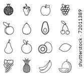 fruit icon set   Shutterstock .eps vector #72011389