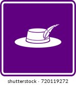 hat with feather sign | Shutterstock .eps vector #720119272
