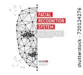 biometric identification or... | Shutterstock .eps vector #720124276
