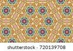 seamless circular vector... | Shutterstock .eps vector #720139708