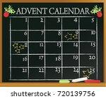 christmas blackboard background ... | Shutterstock .eps vector #720139756