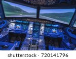 a view of the cockpit of a... | Shutterstock . vector #720141796