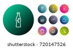 set of 10 beverages outline...   Shutterstock .eps vector #720147526