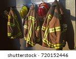 firefighter gear | Shutterstock . vector #720152446