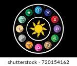 zodiac vector | Shutterstock .eps vector #720154162