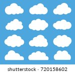 cloud vector icon set white... | Shutterstock .eps vector #720158602
