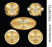anniversary badges. premium set ...   Shutterstock .eps vector #720158722