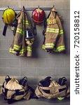 fire protection gear | Shutterstock . vector #720158812