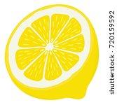 lemon half   isolated | Shutterstock .eps vector #720159592