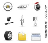 car parts vector icon set | Shutterstock .eps vector #72016099