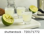 boozy lime  and vodka kamikaze...   Shutterstock . vector #720171772