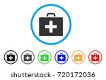 First Aid Bag Rounded Icon....