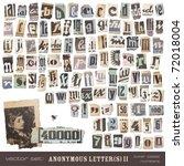 vector set  alphabet based on... | Shutterstock .eps vector #72018004
