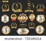 anniversary golden laurel... | Shutterstock .eps vector #720180316