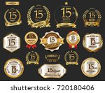 anniversary golden laurel... | Shutterstock .eps vector #720180406