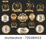 anniversary golden laurel... | Shutterstock .eps vector #720180415