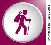hiking icon illustration... | Shutterstock .eps vector #720186856