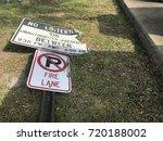 no parking fire lane sign | Shutterstock . vector #720188002