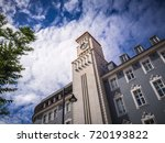 large building with a clock... | Shutterstock . vector #720193822