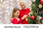 winter holidays  family and... | Shutterstock . vector #720195916