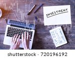 investment concept with... | Shutterstock . vector #720196192
