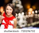 christmas  holidays and people... | Shutterstock . vector #720196732