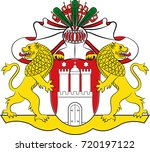 coat of arms of hamburg is the... | Shutterstock .eps vector #720197122