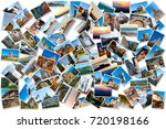 collage of travel and nature... | Shutterstock . vector #720198166
