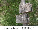 signpost with two wooden... | Shutterstock . vector #720200542