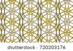 3d circular ring of gold and... | Shutterstock . vector #720203176