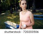 beautiful fitness athlete woman ...   Shutterstock . vector #720203506