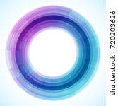 geometric frame from circles ... | Shutterstock .eps vector #720203626