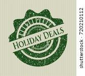 green holiday deals distress... | Shutterstock .eps vector #720210112