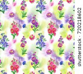 a seamless watercolor pattern... | Shutterstock . vector #720218602