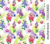 a seamless watercolor pattern... | Shutterstock . vector #720218602
