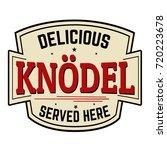knodel sticker or label on... | Shutterstock .eps vector #720223678